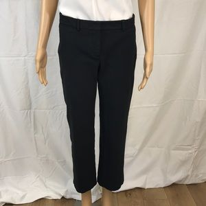 THEORY Black Cropped Trousers Sz 6